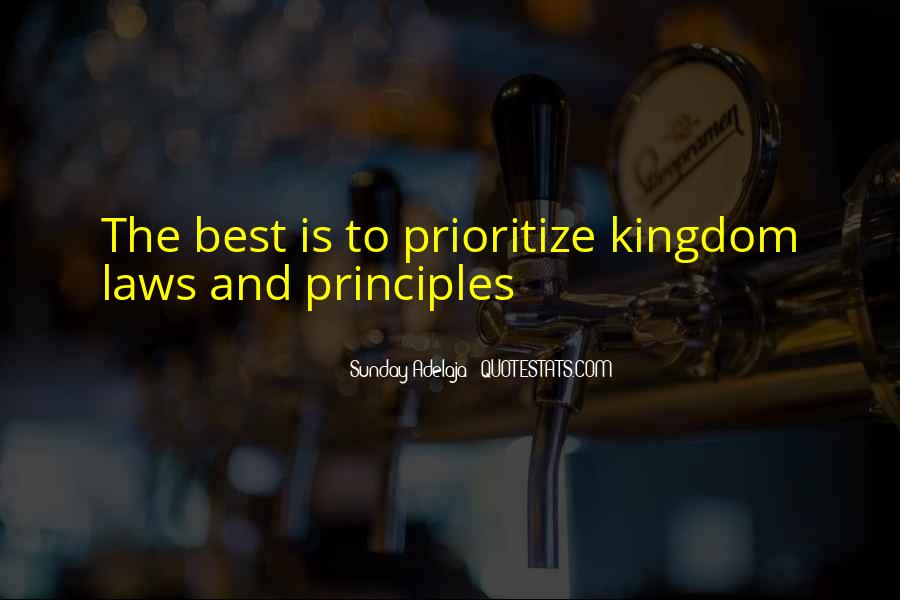 Quotes About Prioritize #245452