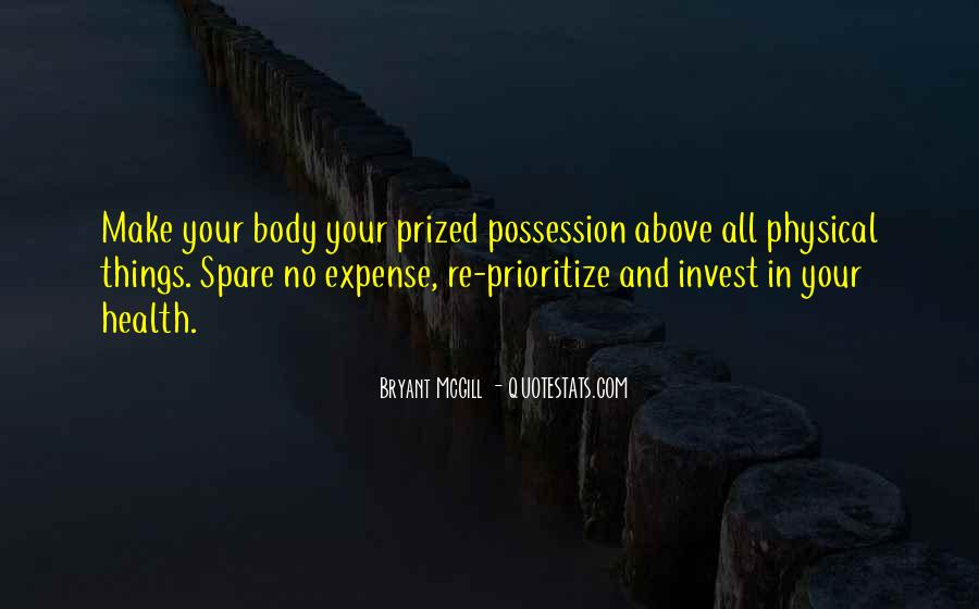 Quotes About Prioritize #755912
