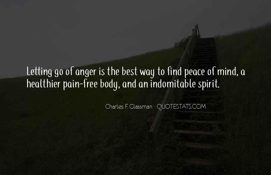 Quotes About Letting Go Of Anger And Pain #72167
