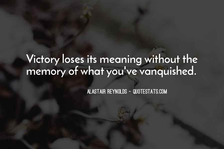 Quotes About Vanquished #1155827