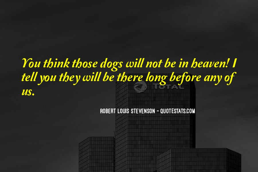 Quotes About Heaven And Dogs #1330817