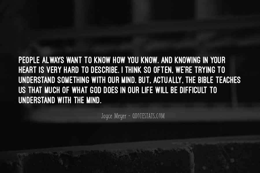 Quotes About God Knowing Your Heart #1452338