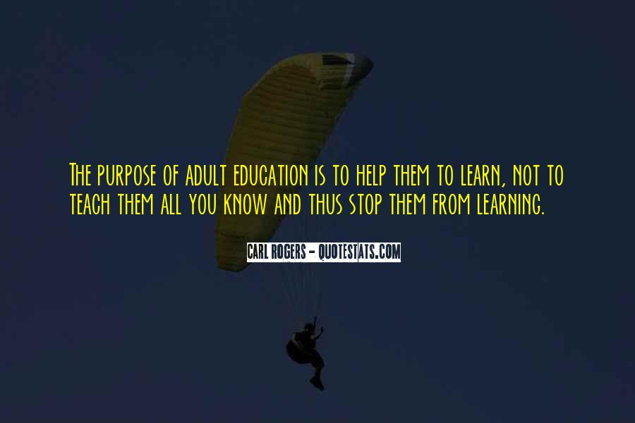 Quotes About Adults Learning #1224350