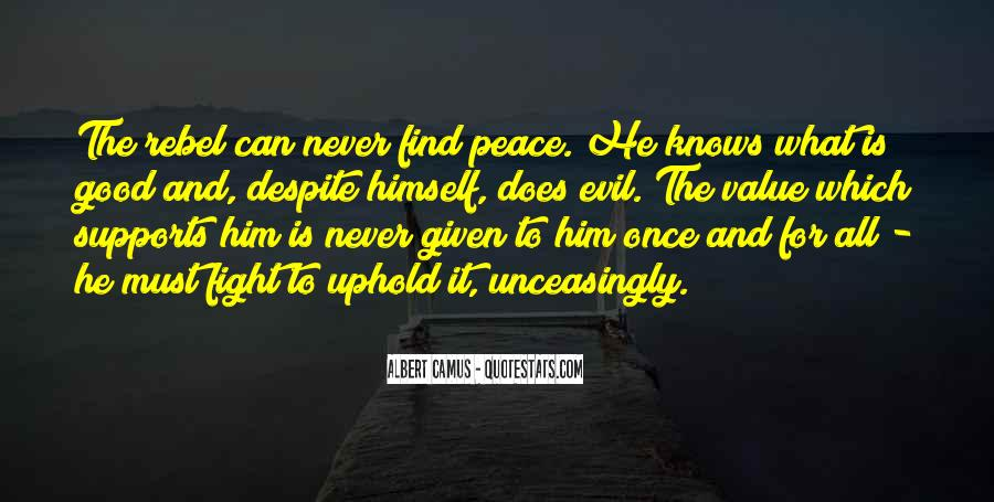 Quotes About Fighting Evil #227026