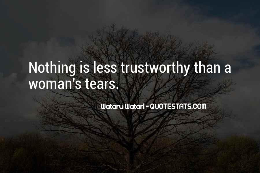 Quotes About Trustworthy Woman #1287140