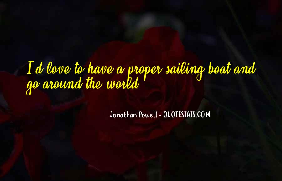Quotes About Sailing And Love #1769674