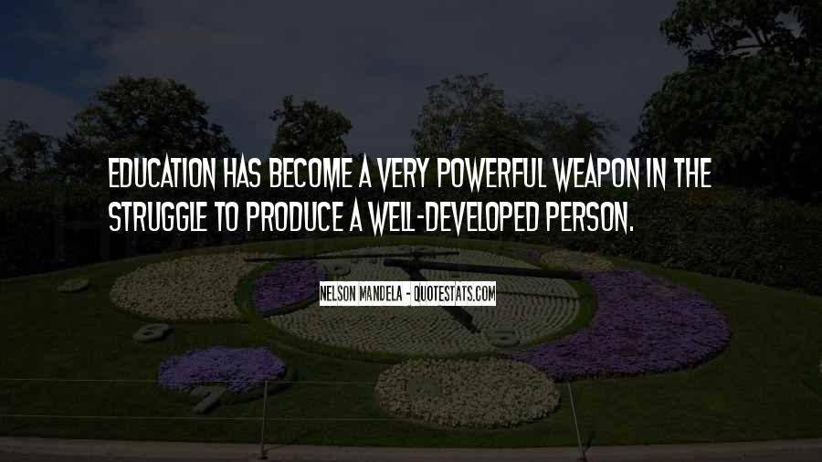 Quotes About Education By Nelson Mandela #715300