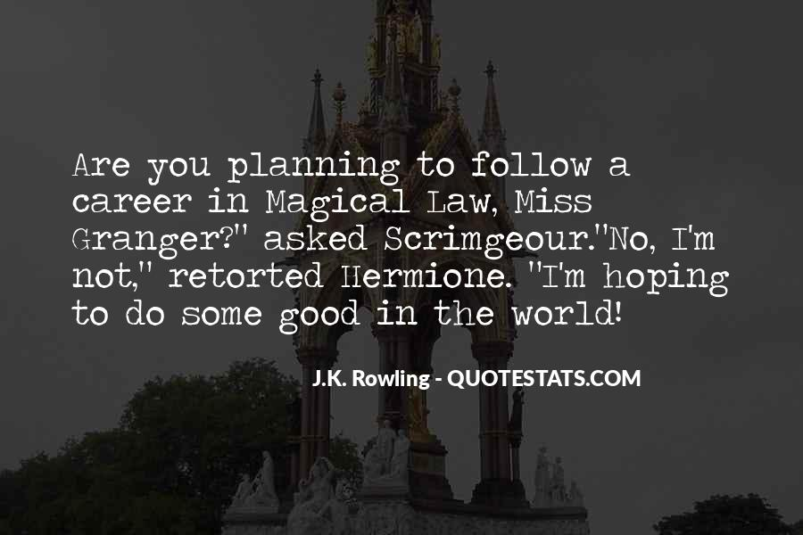 Quotes About Career Planning #1151590
