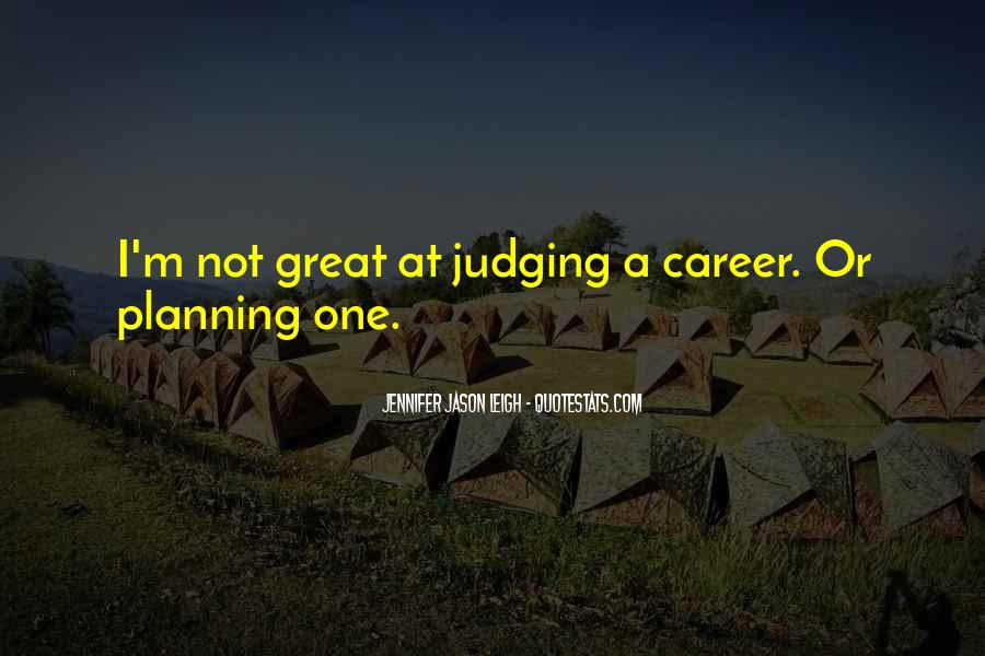 Quotes About Career Planning #1475109