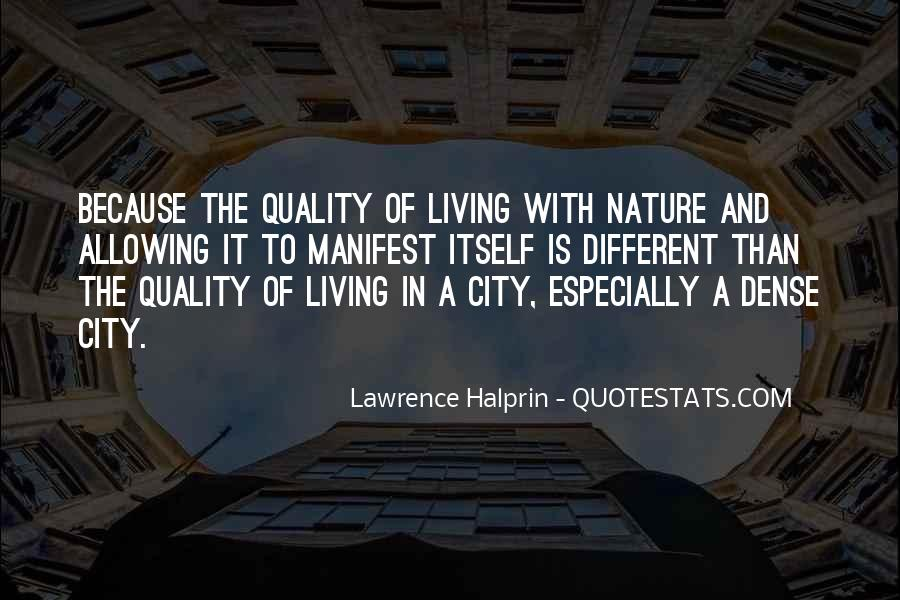 Quotes About Living In The City #169922