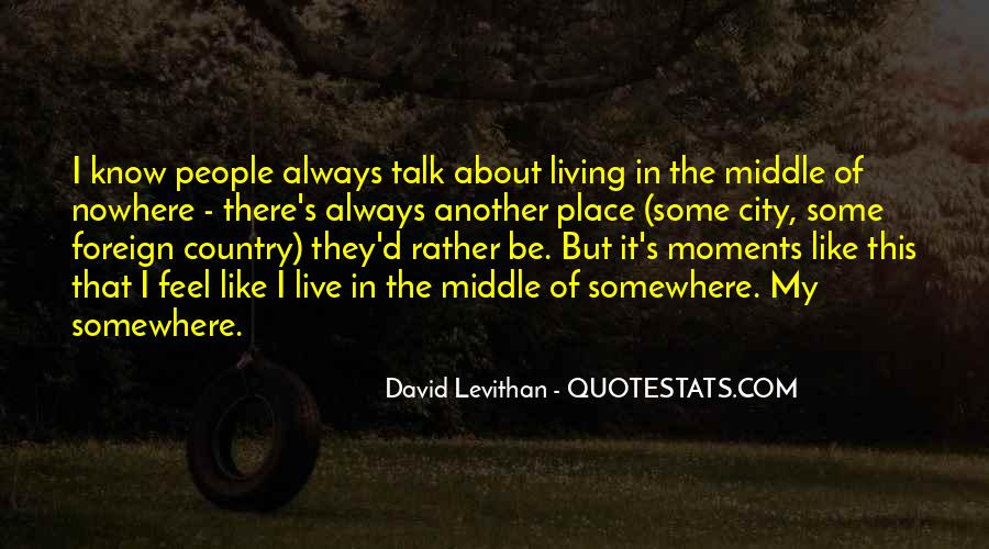 Quotes About Living In The City #310023