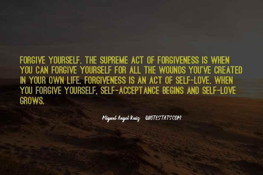 Quotes About Not Forgiving Yourself #70379