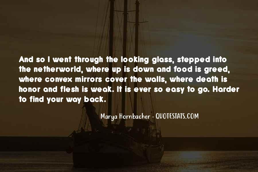 Quotes About The Looking Glass #310960