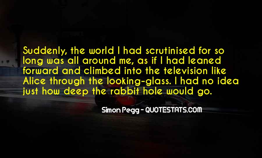 Quotes About The Looking Glass #3609