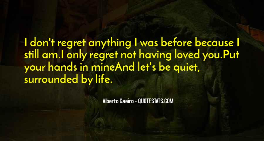 Quotes About Regret Love #111326