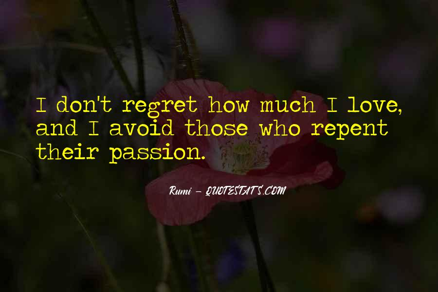 Quotes About Regret Love #117314