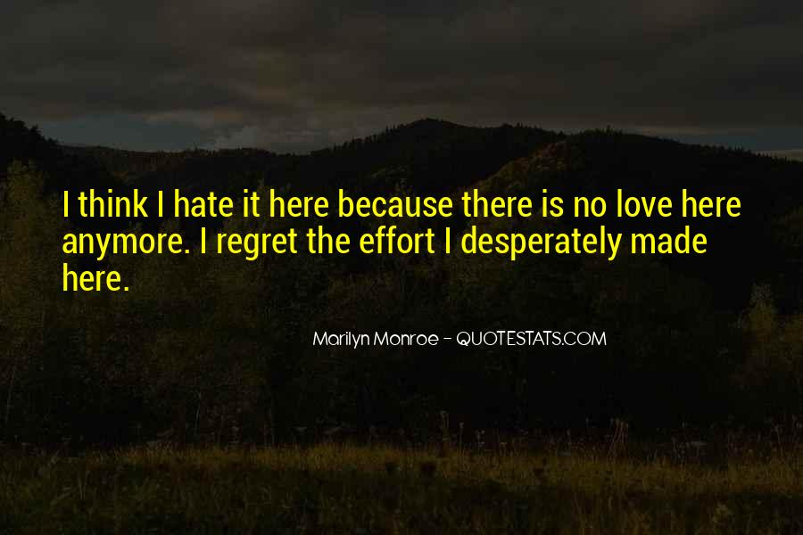Quotes About Regret Love #307160