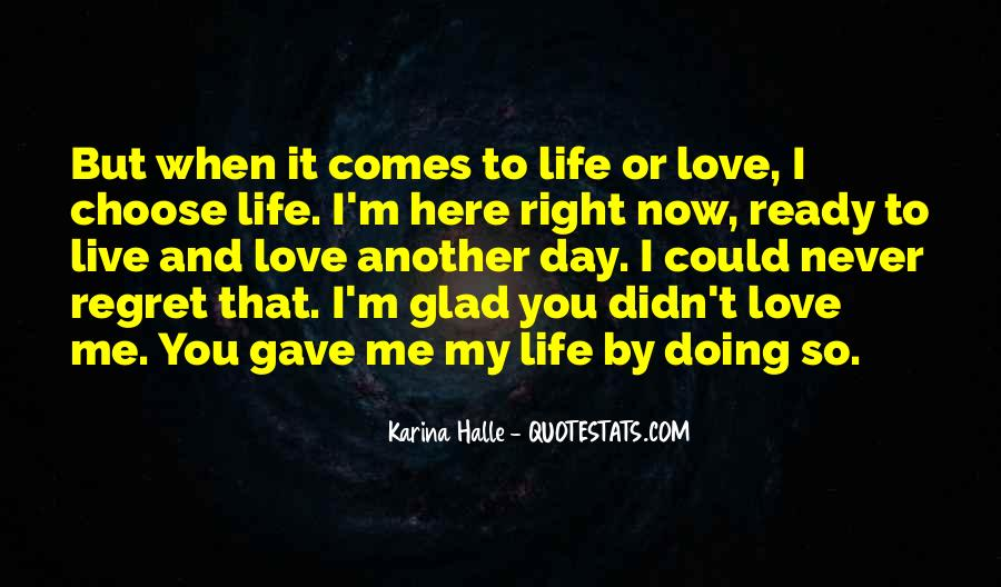Quotes About Regret Love #320060