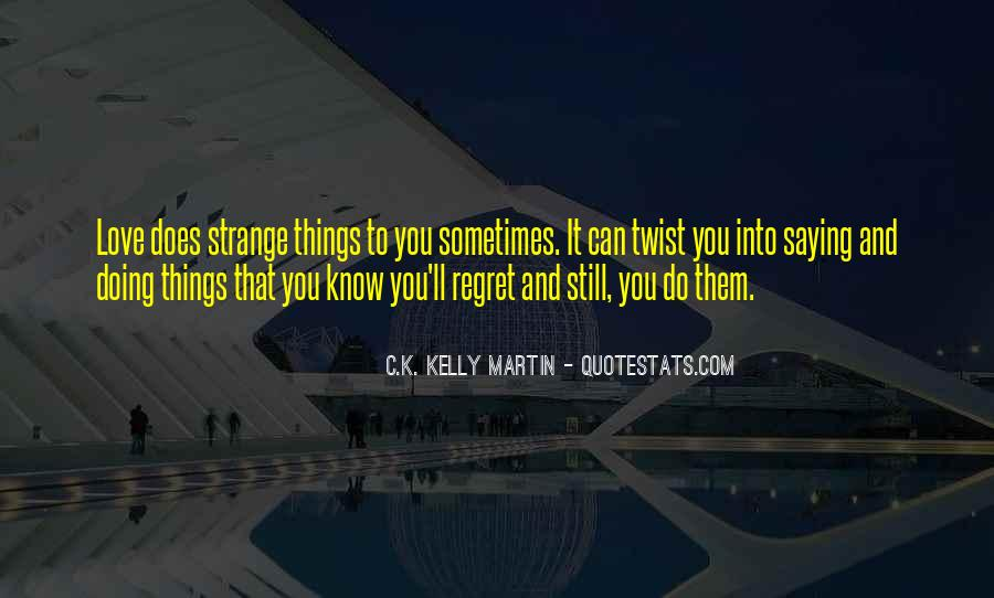 Quotes About Regret Love #468398