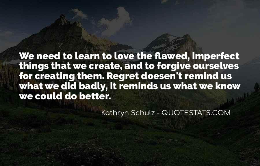 Quotes About Regret Love #538559