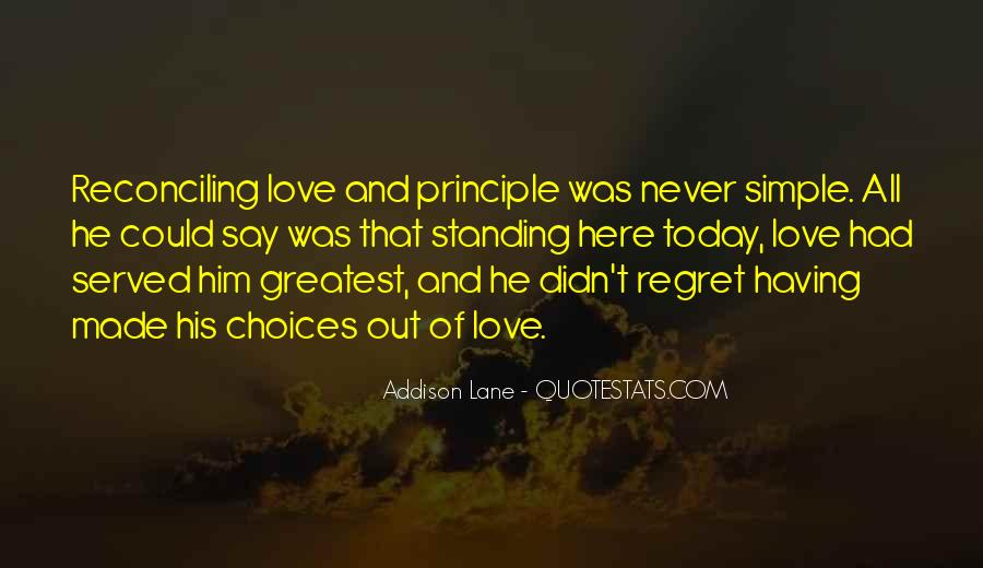 Quotes About Regret Love #543026