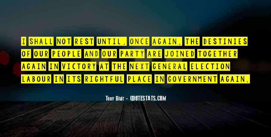 Quotes About Victory In Election #237005