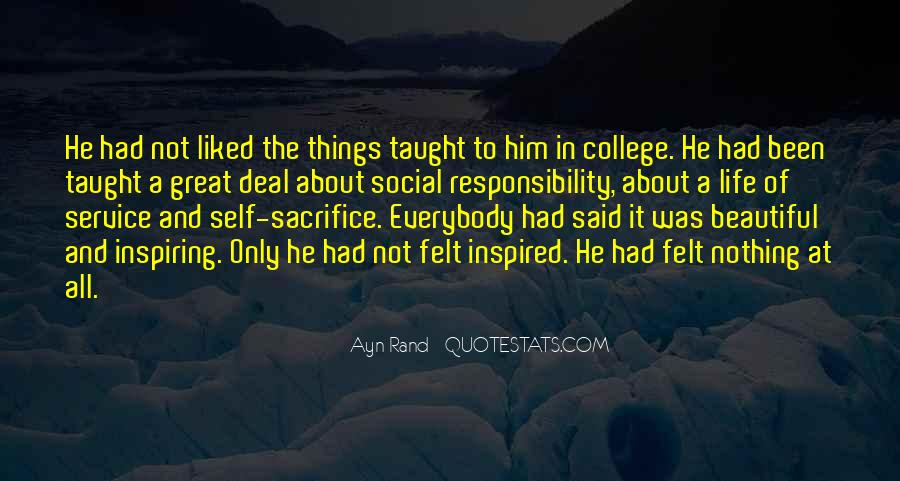 Quotes About College Social Life #1650446