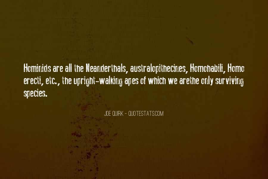 Quotes About Neanderthals #831489