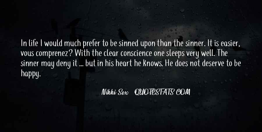 Quotes About Sinned #1089344