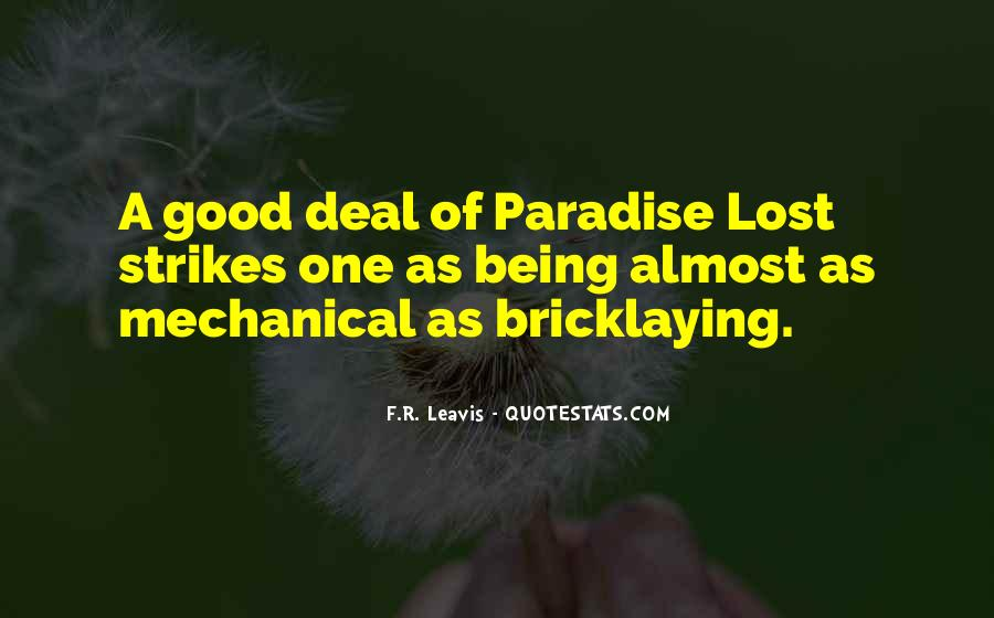 Quotes About Paradise Lost #114327