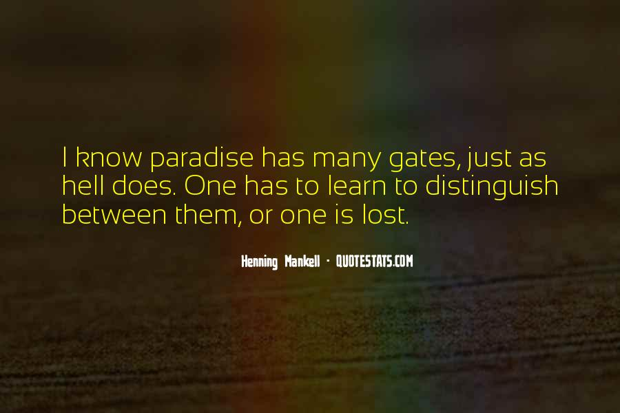 Quotes About Paradise Lost #1391219