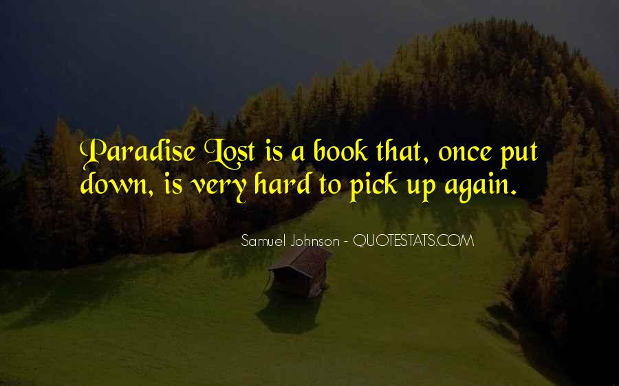 Quotes About Paradise Lost #1437019