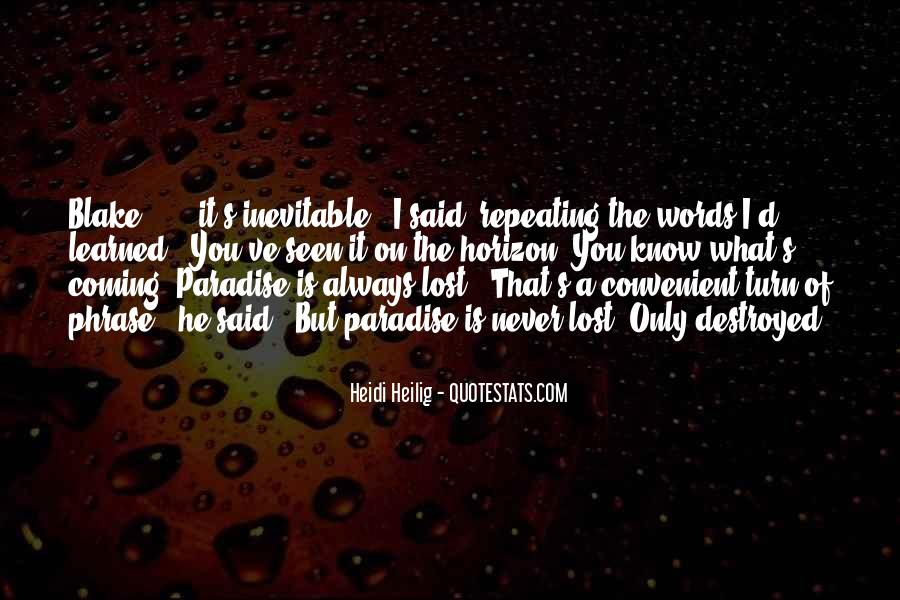Quotes About Paradise Lost #1462720