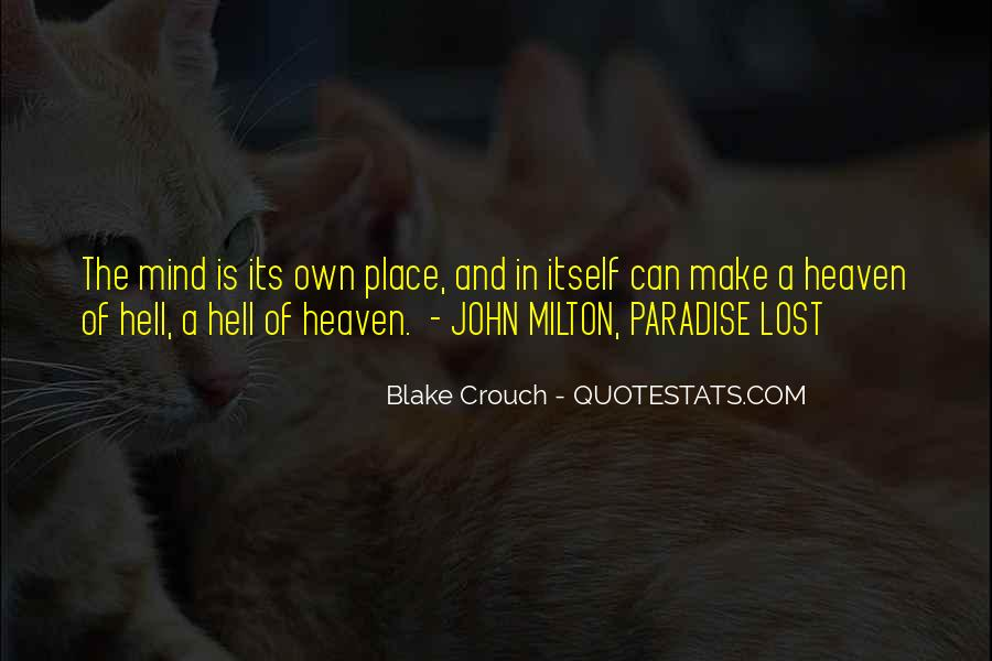 Quotes About Paradise Lost #1488939