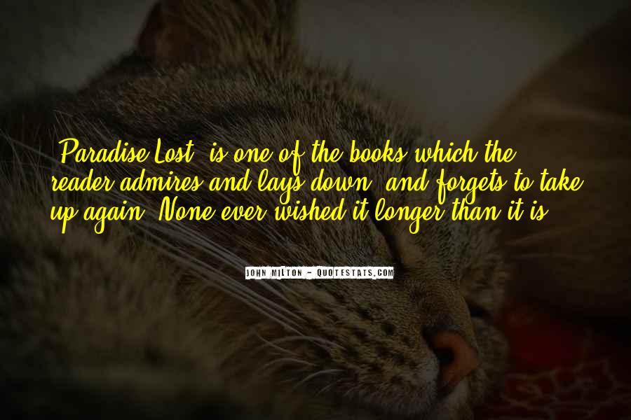 Quotes About Paradise Lost #626879
