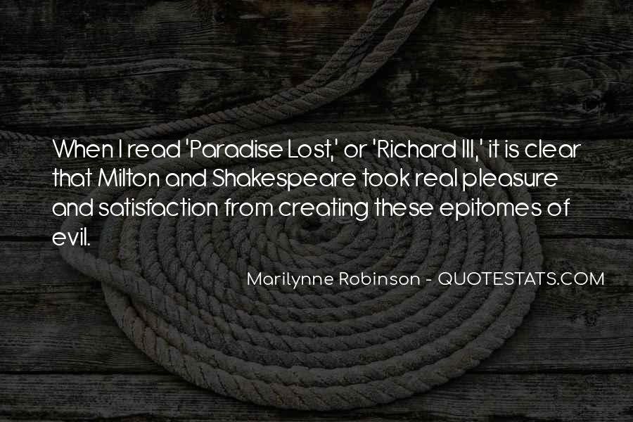 Quotes About Paradise Lost #74744