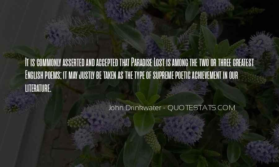 Quotes About Paradise Lost #806860
