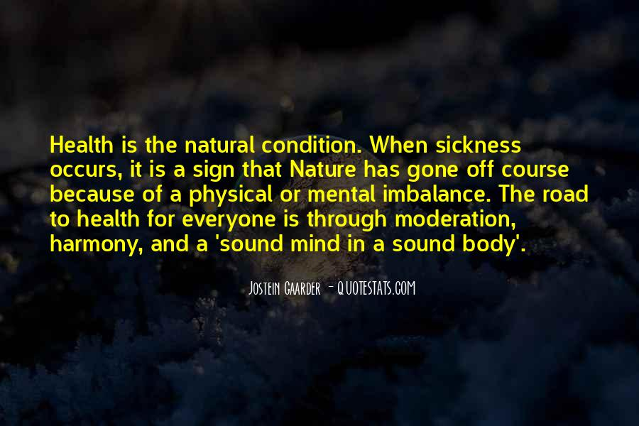 Quotes About Mental Imbalance #1007135