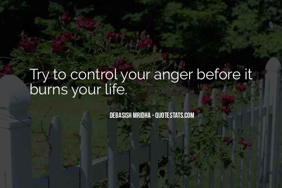 Quotes About Anger Control #1036806
