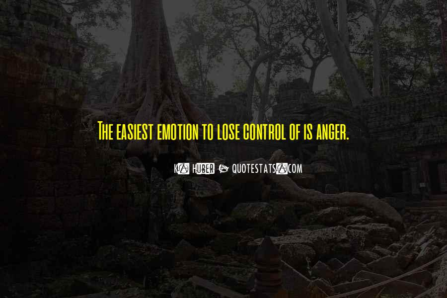 Quotes About Anger Control #1198401