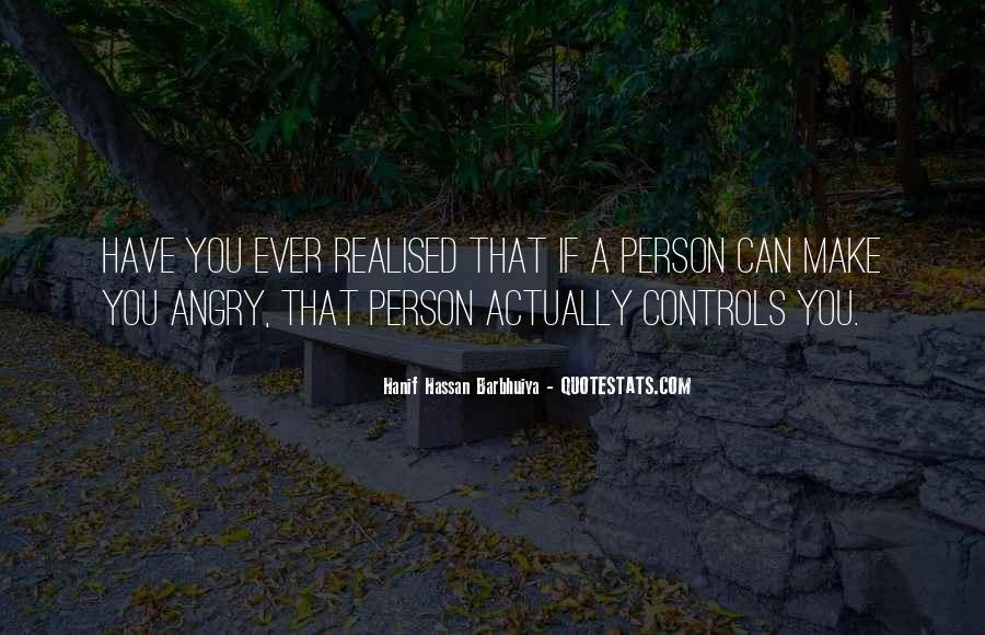 Quotes About Anger Control #1390126