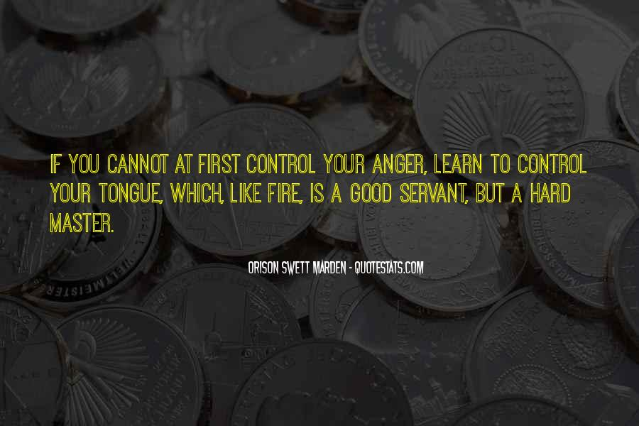 Quotes About Anger Control #426921
