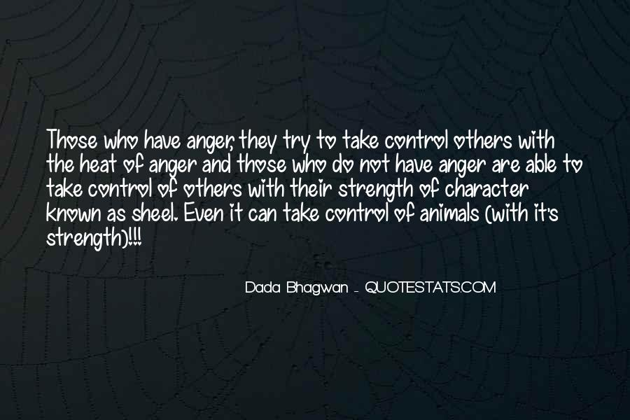 Quotes About Anger Control #751802