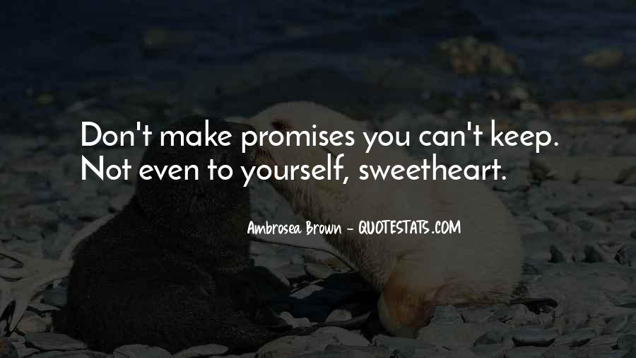 Quotes About Promises To Yourself #1464532