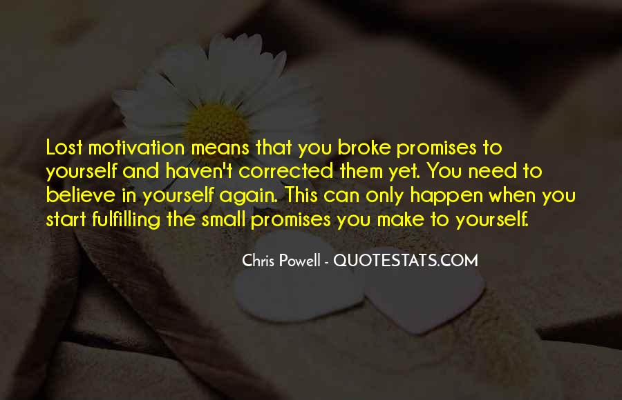 Quotes About Promises To Yourself #581863