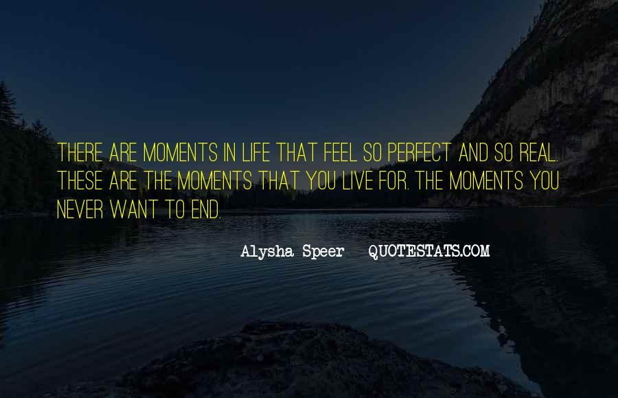 Quotes About Perfect Moments #1328843