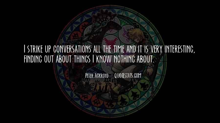 Quotes About Conversations #181141