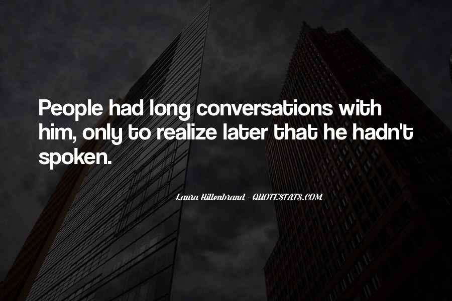 Quotes About Conversations #27995