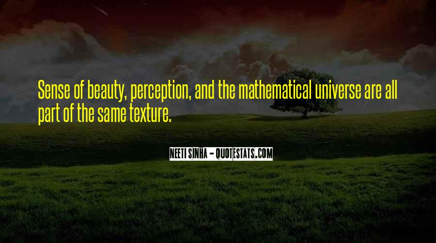 Quotes About Perception Beauty #76972