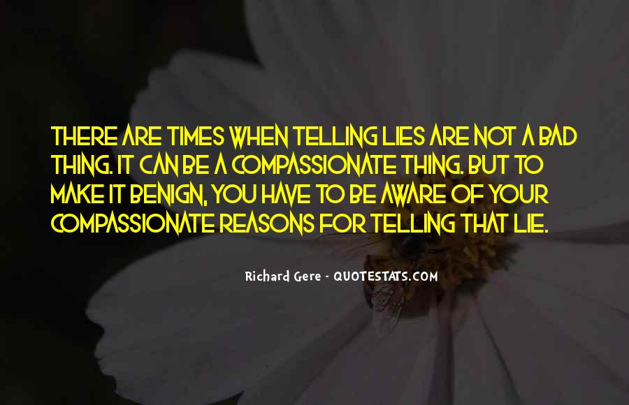 Quotes About Not Telling Lies #1036697